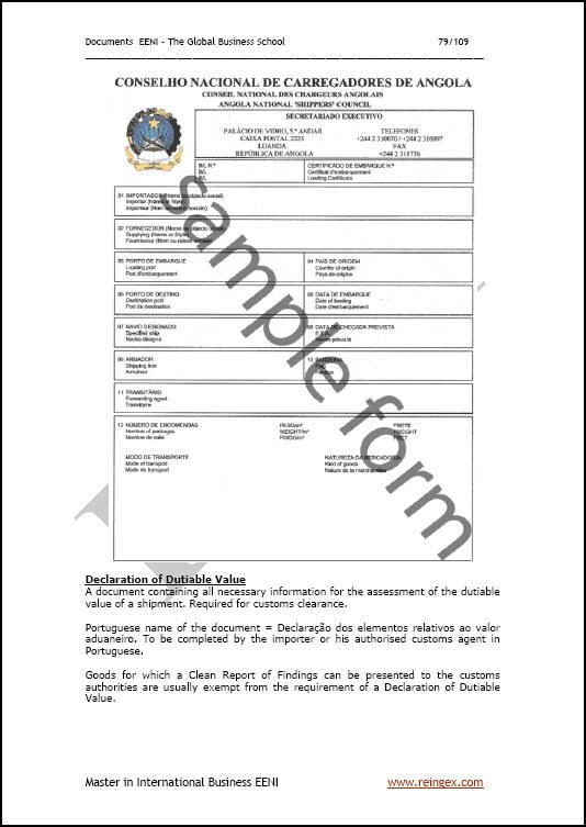 import export dokumente  master  ursprungszeugnis